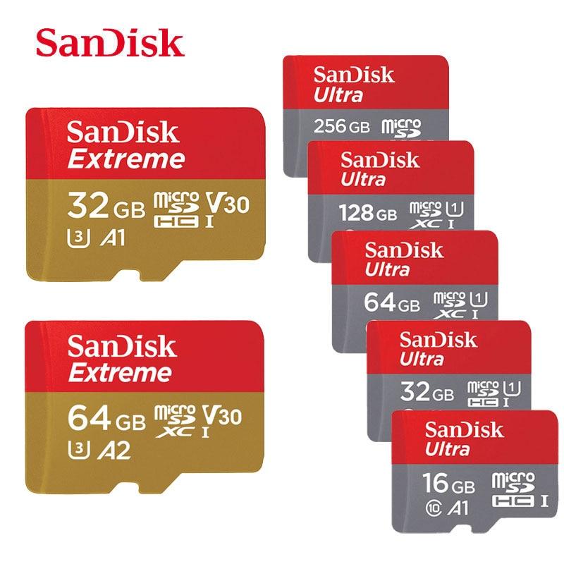 Tarjeta de memoria SanDisk Micro SD de 128GB 200GB 256GB 64GB 32GB 16GB Clase 10 UHS-1 SDHC/SDXC máx. 100 M/s TF Trans Flash Mikro tarjeta