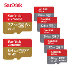 SanDisk — Carte Micro SD, 16 Go/32 Go/64 Go/128 Go/200 Go/256 Go, SDHC/SDXC, Classe10, UHS-I 100Mo/s, TF, mémoire flash