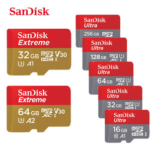 SanDisk Memory Card Micro SD 128GB 200GB 256GB 64GB 32GB 16GB Class 10 UHS-1 SDHC/SDXC Max 100M/s TF Trans Flash Mikro Card