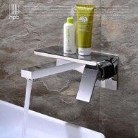 Блаватская Новый Дизайн широкое настенные Ванная комната смеситель раковина смеситель горячей и холодной воды с полка HP3308