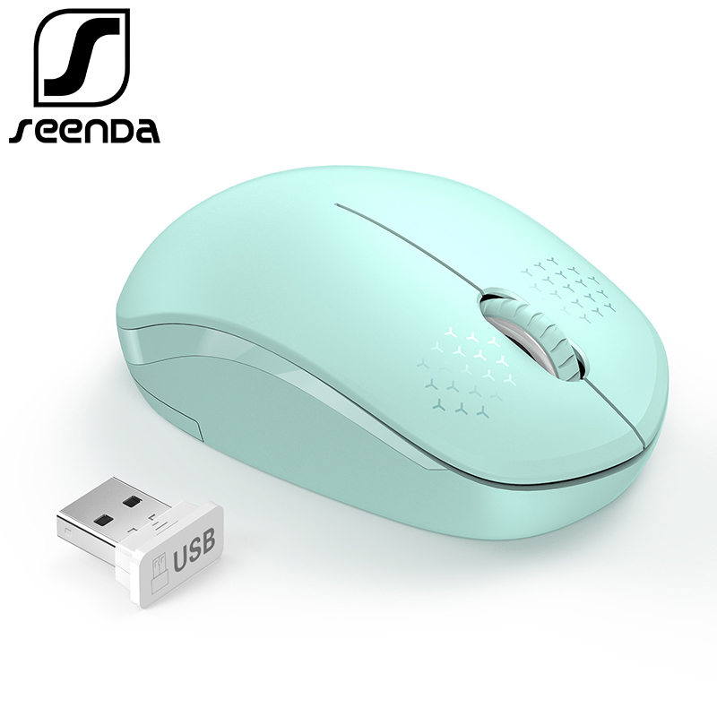SeenDa Noiseless 2.4G Wireless Mouse Portable Optical Mice for Notebook PC Laptop Mini Silent Mouse 1600DPI Ergonomic Vertical new mini retractable usb optical mouse for pc laptop notebook scroll wheel colorful mice dropshipping