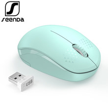 SeenDa Noiseless 2.4G Wireless Mouse Portable Optical Mice for Notebook PC Laptop Mini Silent Mouse 1600DPI Ergonomic Vertical(China)