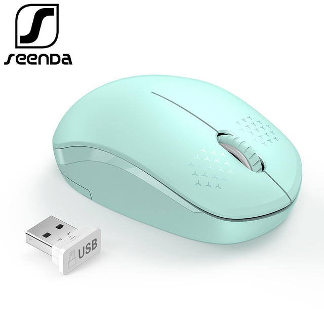 39f54620830 SeenDa Noiseless 2.4G Wireless Mouse Portable Optical Mice for Notebook PC  Laptop Mini Silent Mouse