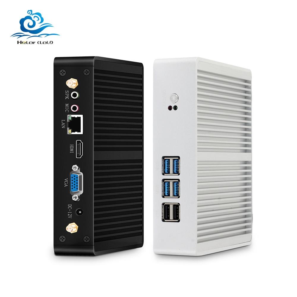 HLY Mini PC Core I3 7100U I5 7200U 4210Y Fanless PC Mini Windows 10 HDMI Computer 480GB HTPC DDR3 Wifi USB Micro Computador