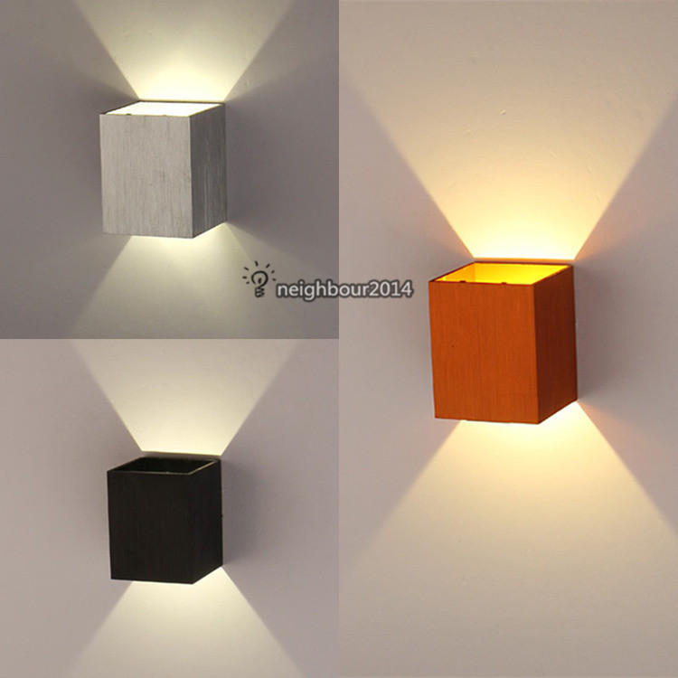 Led Of Halogeen In Badkamer New Modern 3w Led Square Wall Lamp Hall Porch Walkway