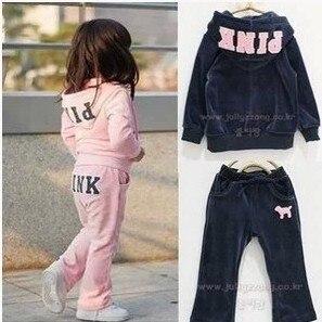Младенцы дети девочки комплект розовый комплект спорт экипировка тренировочный рубашка 5 комплект / lot розовый морской синий дети одежда