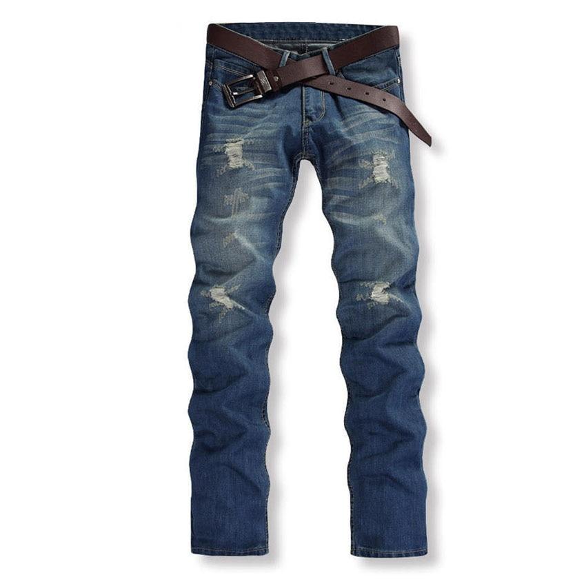 New Brand 2019 Men Whitening Blooms Warm Nudes Worn Hole Jeans Men Jasper Carmen Causal Fitness Mild Long Jean 47