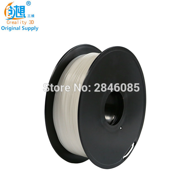Cheap CREALITY 3D 1.75mm PLA filament White Color High quality PLA filament N.W 1000g for FDM 3D Printer FFF 3D Printer Green high quality 3d printer consumable items
