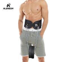 ALBREDA NEW Fitness Equipment Dumbbells Weight Lifting Belt Drop Shipping Dip belt Strength Pull up Load belt Gym Power Exercise