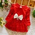 Девочки платье bebe младенческой шифон платья с большой бант дети мода платье roupas infantil meninas детские платья для девочек