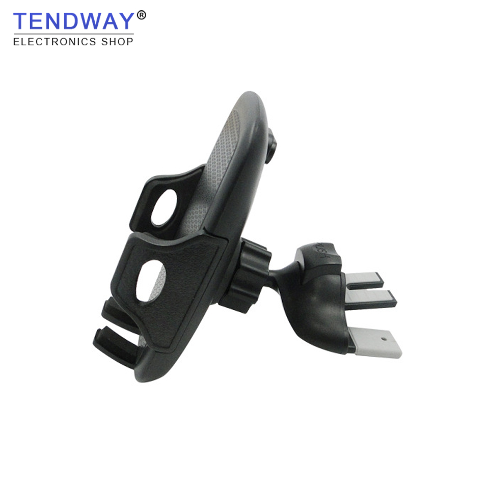 Tendway Car Phone Holder 360 Rotatable Universal Air Vent Cellphone Clip CD Slot Mount GPS Bracket Mobile Phone Stand Holder