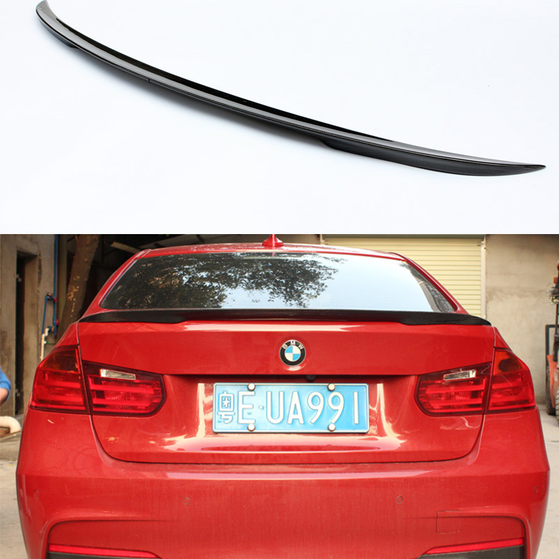 F30 F80 M3 Performance Style Carbon Fiber Car Rear Trunk lip Spoiler Wing For BMW F30 F80 M3 320i 328i 335i 2013-2015 m performance style carbon fiber rear trunk wing spoiler for bmw 3 series f30 2012 2018 318i 320i 328i 330i 335i