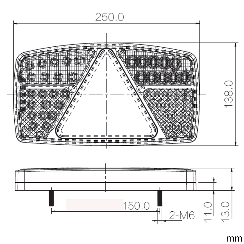 Image 4 - 1 pair AOHEWEI 10 30V LED trailer light Indicator/Stop/Reverse/FogTail lamp with reflector position led light  side marker light-in Truck Light System from Automobiles & Motorcycles