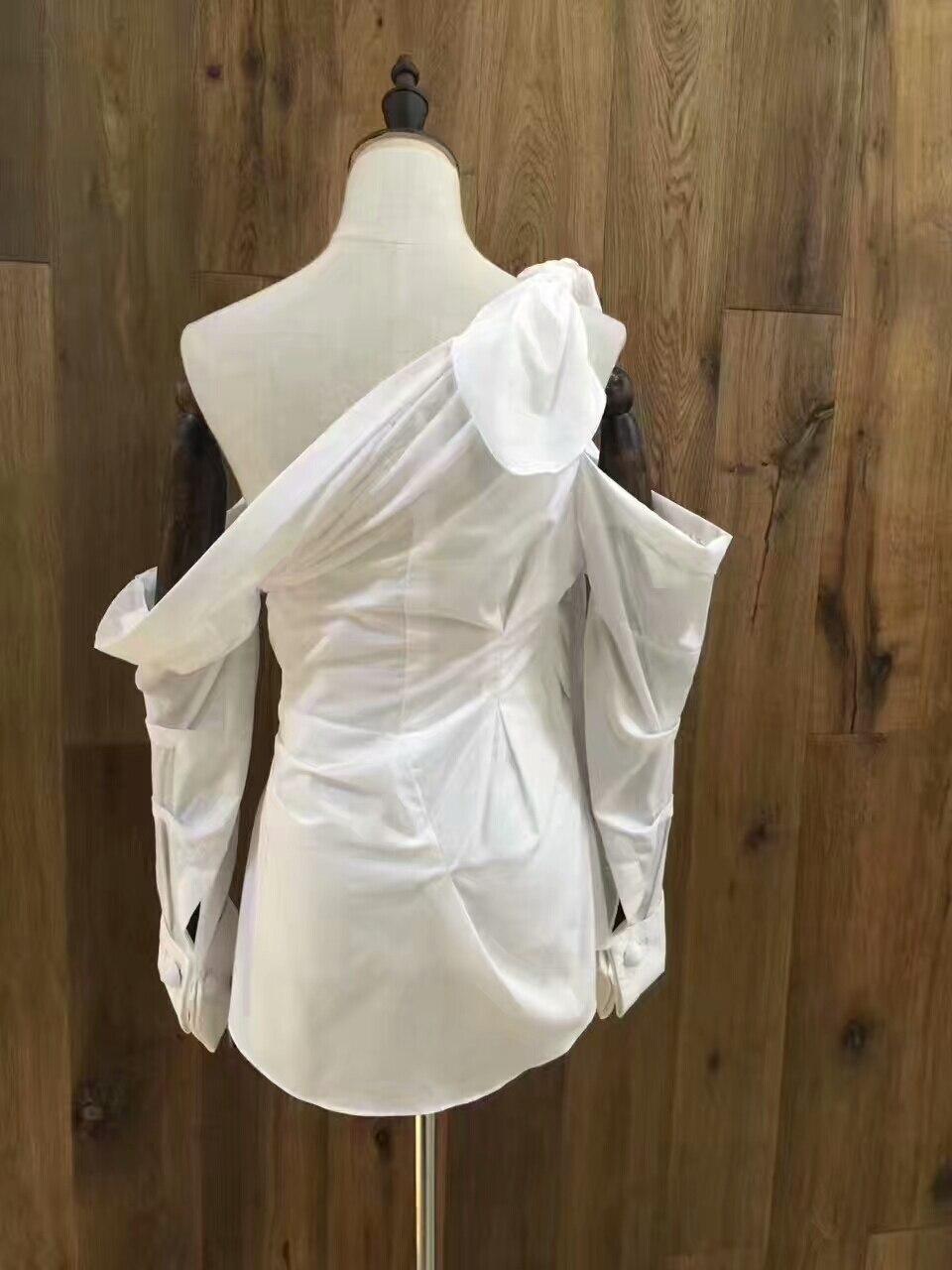 Elegante Diseño Blanca Tops Camisa Las De Zanzea 2017 Casual Sexy Blusas Increíble Feminina Hombro Mujeres Moda Mujer Para Blusa rCUFWrqS