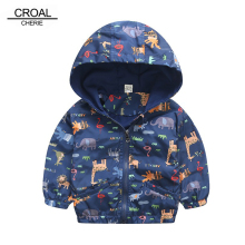 90-120cm Animal Baby Girls Jacket Active Hooded Outerwear Co