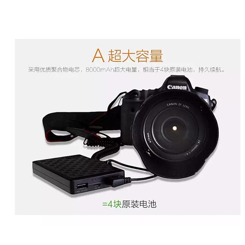 LP-E8 LPE8 Batteries au Lithium pack LP-E8 d'alimentation externe LPE8 appareil photo numérique DSLR puissance Mobile pour Canon EOS 550D 600D 650D 700D