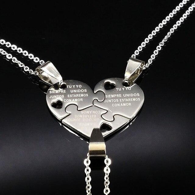 3pcs best friends broken heart pendant necklaces chokers pendants clear mozeypictures Choice Image