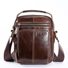 купить 100% Genuine Leather Messenger Bag Men's Shoulder Bags Crossbody Bag for Men ipad flap Small Shoulder Handbags Male Bag дешево