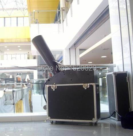 CO2 gas power whirlwind rainbow paper machine flycase event paper confetti machine events using dj effects equipment