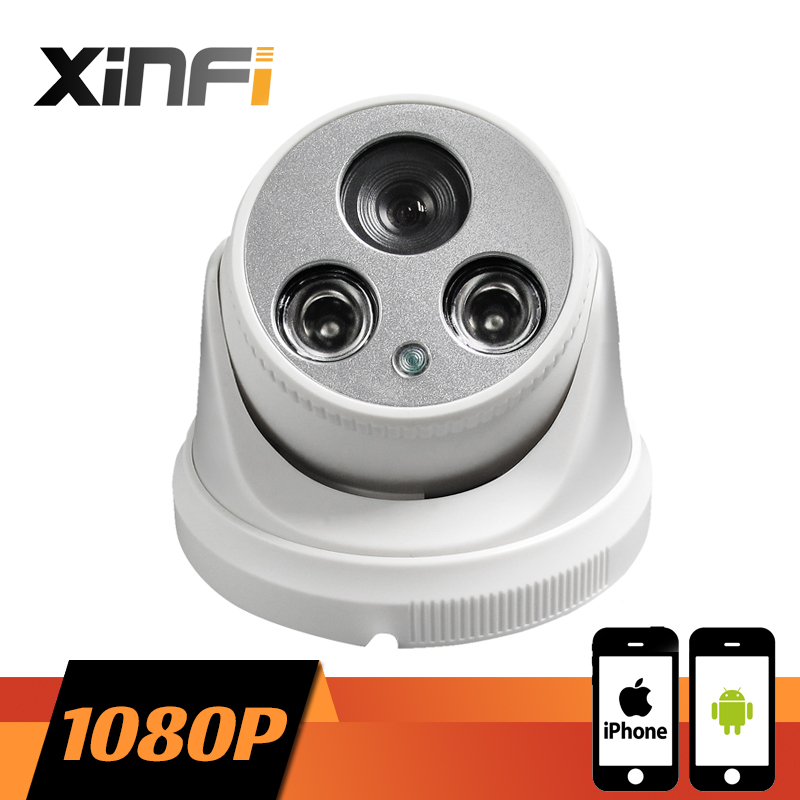 XINFI HD 1920*1080P Indoor network CCTV IP camera Surveillance dome Camera 2.0MP P2P ONVIF 2.0 PC&Phone remote view owlcat 1080p full hd 2mp surveillance network indoor dome cctv camera onvif security ip camera 3x zoomed auto focus lens 2 8 8mm