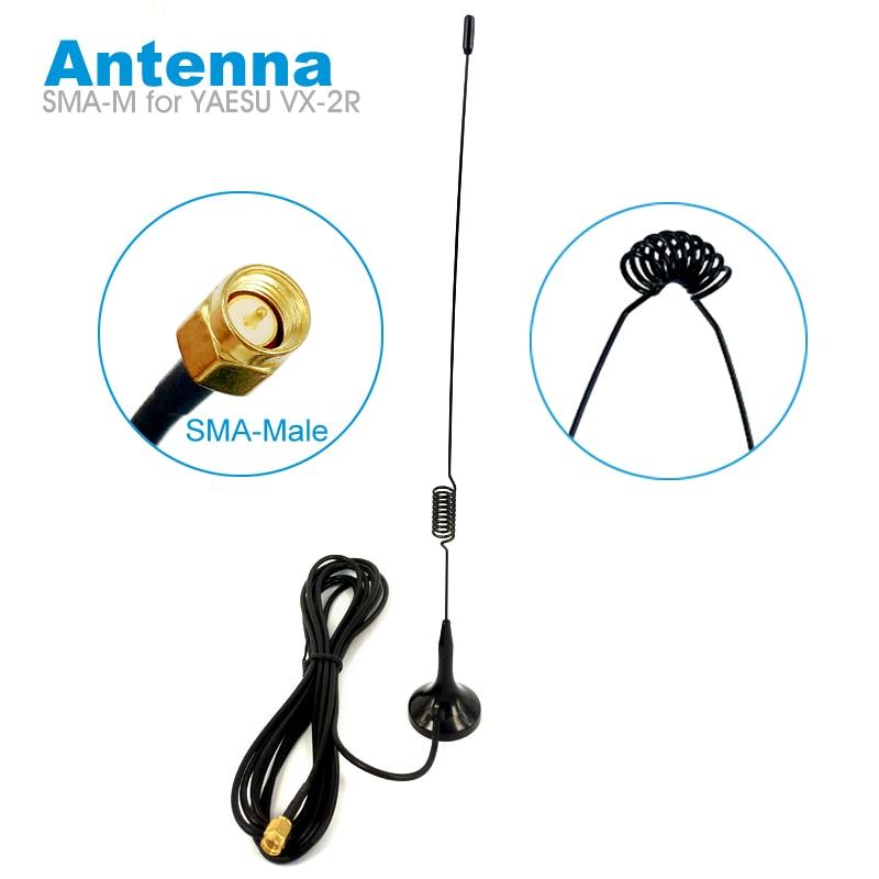 UT-102UV Dual Band Magnetic Base Antenna SMA-M SMA-Male For YAESU VX-2R TYT Th-uv8r Walkie Talkie Car Radio 144/430MHz UHF VHF