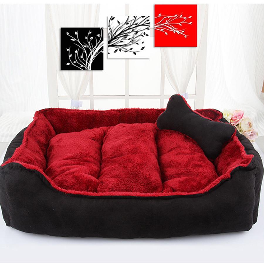 Rubber mats dog run - Warm Soft Dog House Bed Cage Kennel Mats Pad Hutting Foldable Dog Puppy Supplies Nest Nicho