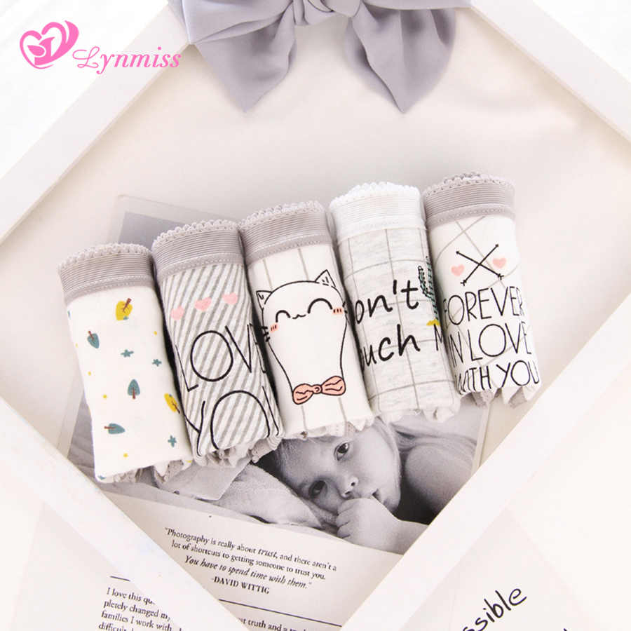 2f0898ebc473 2019 Lynmiss Panties Women's Plus Size Women 39 s Underwear Female Qute Cat  Multipack Cotton Panties