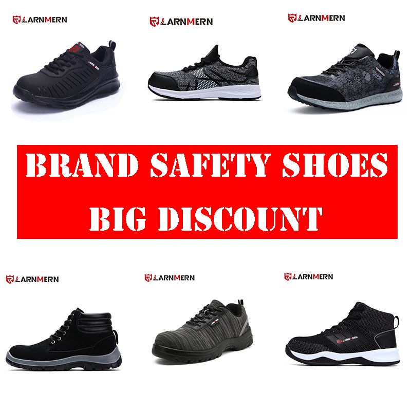 LARNMERN Mens Work & Safety Boots Steel Toe Shoes Puncture Construction Outdoor Footwear Breathable Casual Sneakers Free Ship