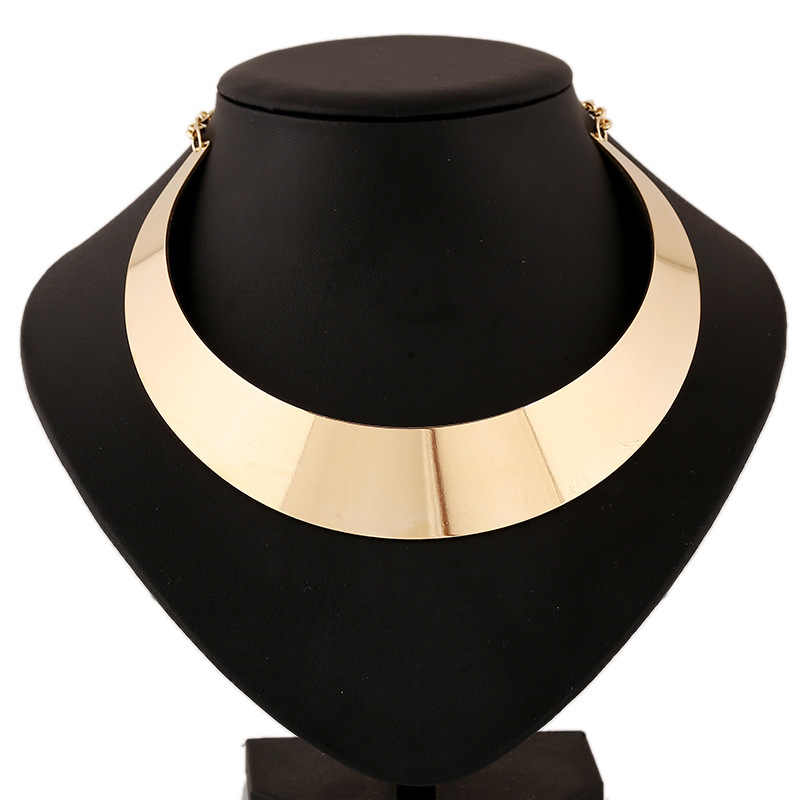 2019 New Fashion Series Alloy Statement Necklace Women Short Necklaces Collares Mujer Chunky Choker Gold Necklace Bijoux