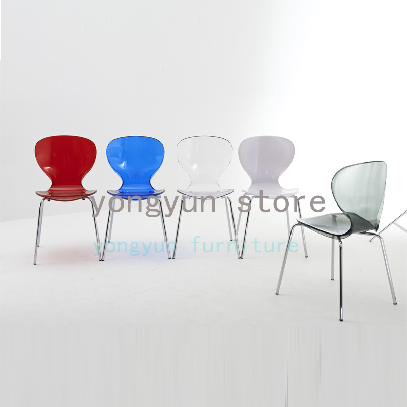 Minimalist Modern Stackable Transparent Acrylic Dining Chair Coffee Chair Fashion Modern Dining Room Furniture Chairs 2pcs Dining Chairs Aliexpress