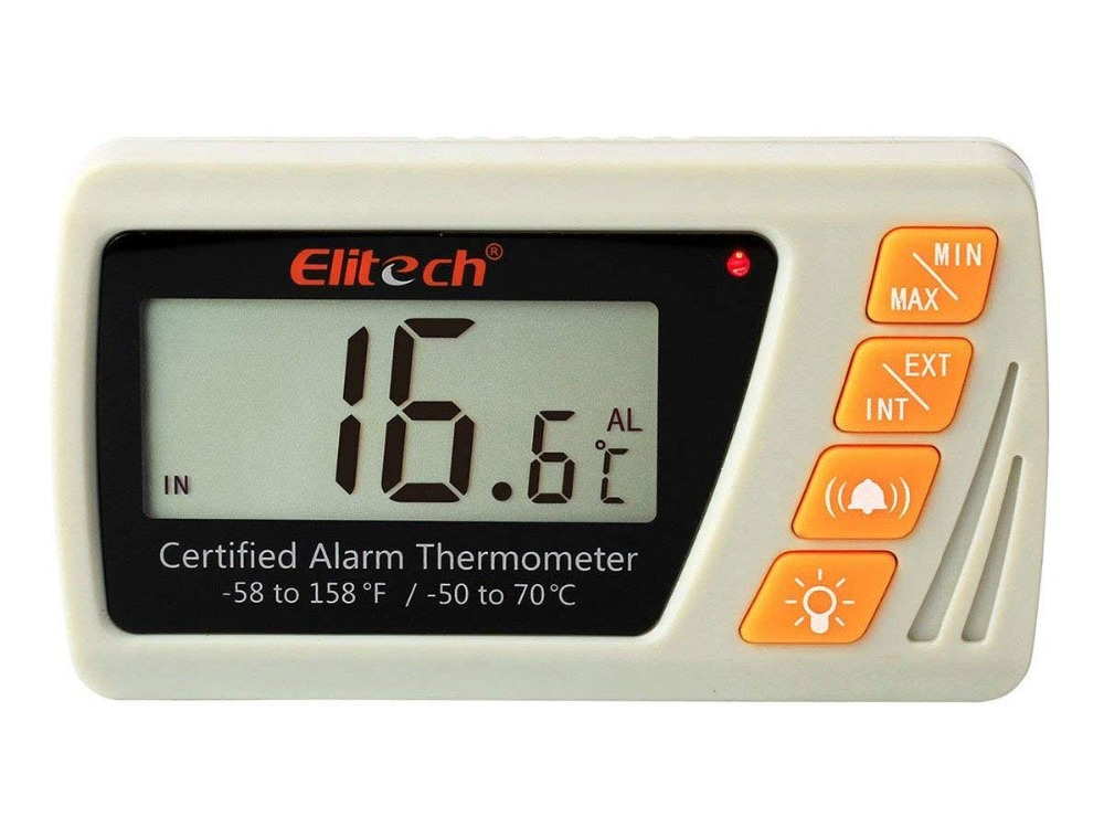 Elitech VT-10 Vaccine Thermometer With High Precision Thermometer And Hygrometer Medical Freezer Pharmacy Thermometer thermometer