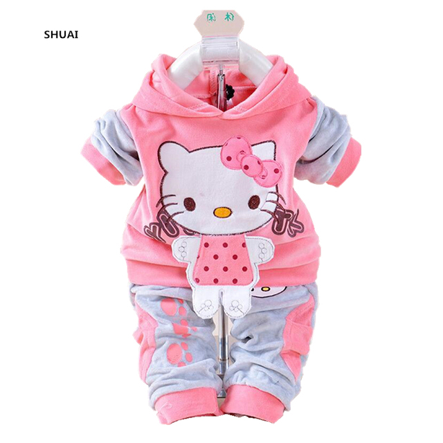 694375aab6bc New Hello Kitty Baby Girls Clothing Sets Spring Autumn Cartoon ...