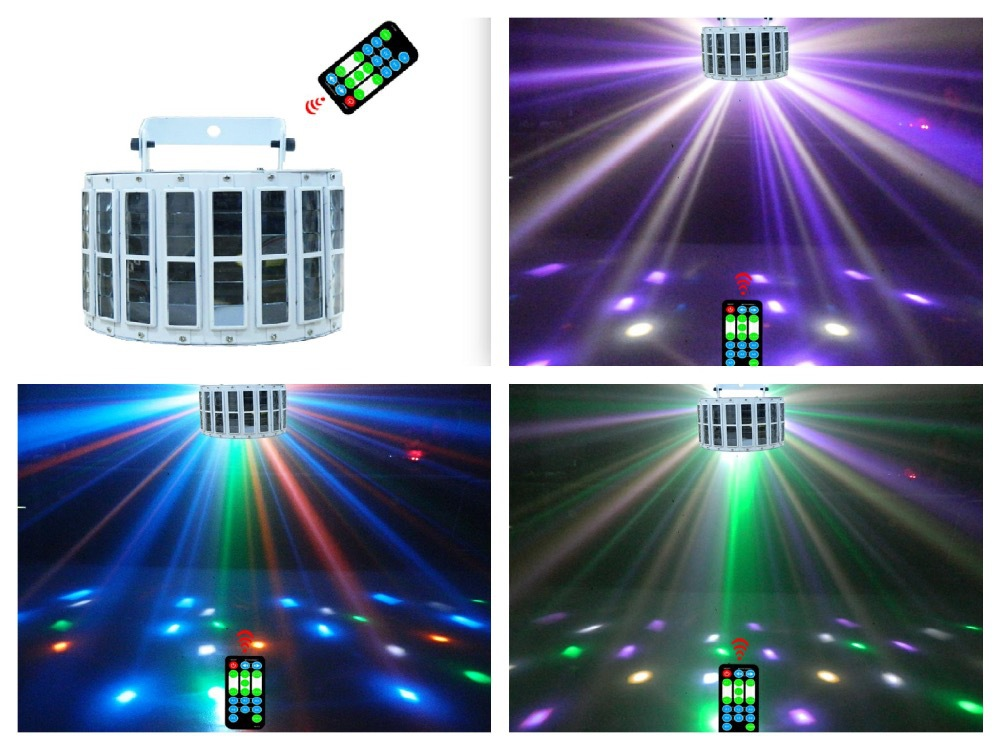 ФОТО 12pcs/lot, High Power 8x3W RGBW LED Effect Light 24w colorful disco dj club party bar stage lighting dmx with remote control