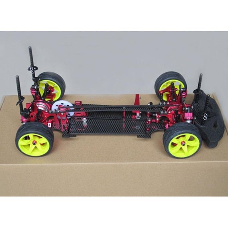 1/10 Touring Sport Car Frame Kit Alloy & Carbon Fiber Touring Sport Car Body Kit DIY Model Kit For Sakura S XI Racing Car