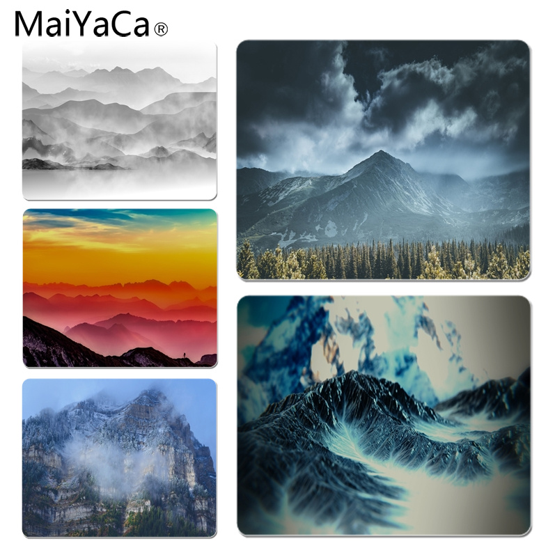 MaiYaCa New Designs Mountain mist Computer Gaming Mousemats Size for 180x220x2mm and 250x290x2mm Small Mousepad