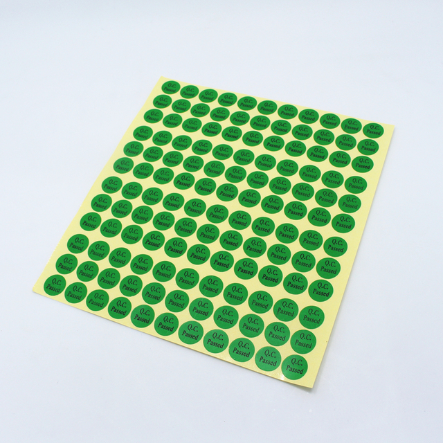 Dhl 99900pcs lot 1 3cm event green round sticker q c passed logo labels 0 51inch