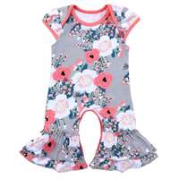 Summer Baby Clothes Sleeveless Floral Newborn Bodysuit Double Ruffle Baby Girls Suit Cute Soft Cotton Pajamas
