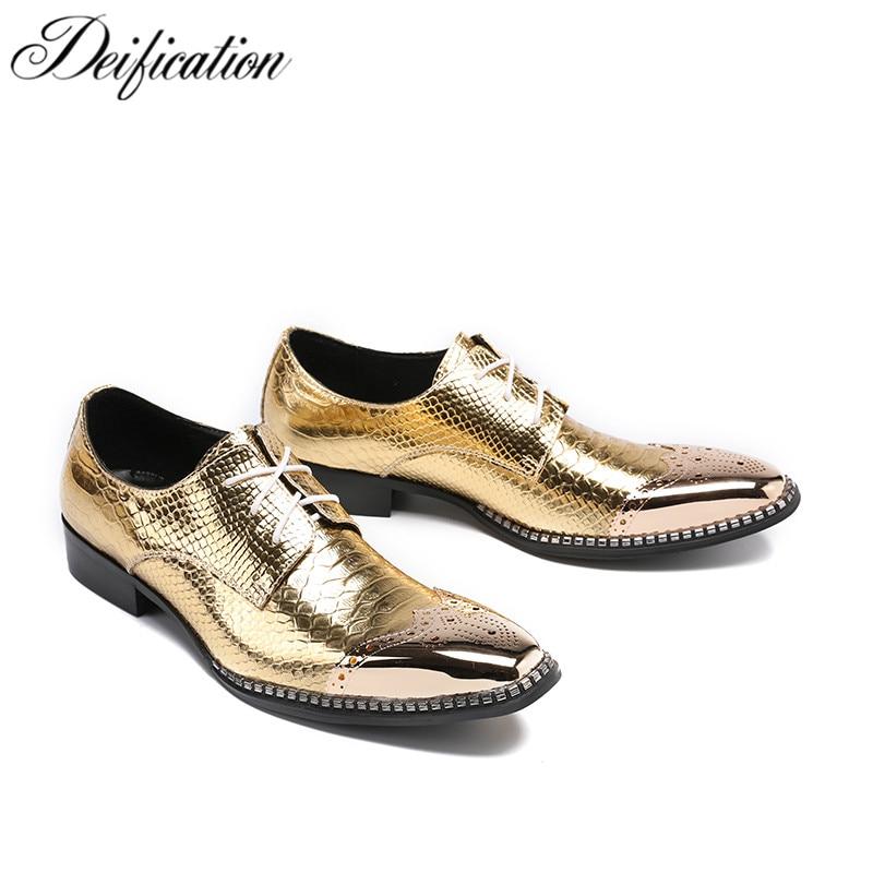 Defication Luxury Shoes Men Brogue Shoes Shiny Genuine Leather Men Dress Shoes Zapatos De Hombre Lace Up Oxfords Shoes For Men