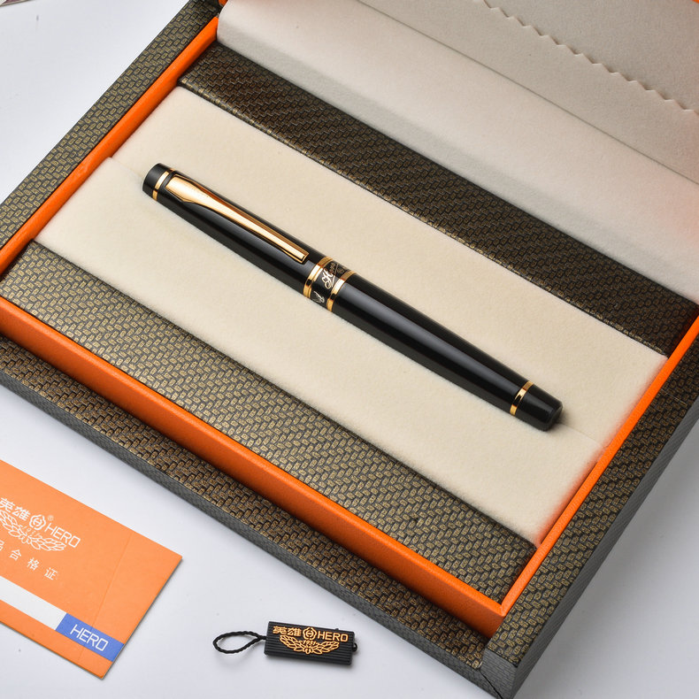 цена High Quality Hero 1021 Luxury Iridium Fountain Pen Sign/Writing/Calligraphy Pens with Gift Box Free Shipping