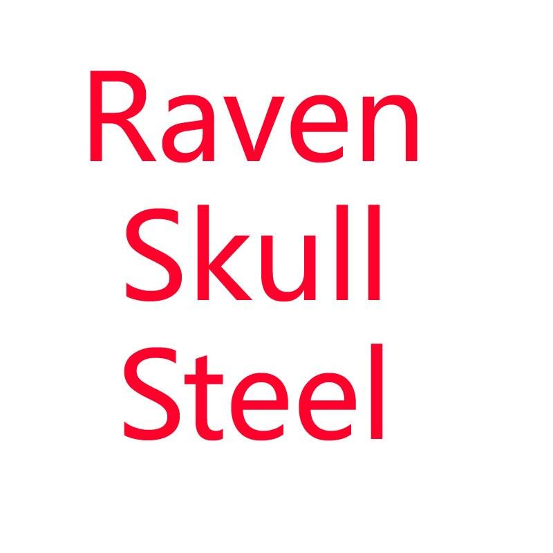 Viking raven skull stainless steel necklace