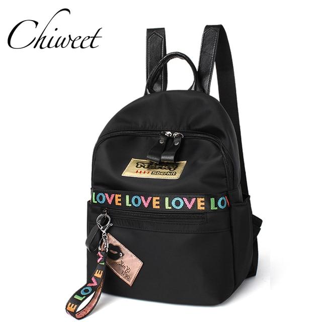 Women Waterproof Casual Backpack Middle School Designer Bookbag Teenager  Love Print Stripe Backpacks Female Bolsa Travel Bags 3f4891b3e0
