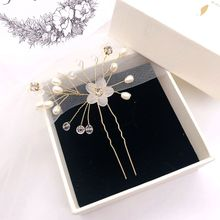bride hairpins pearl crystal  barrette wedding hair accessories tiara comb ornanments carab fashion jewelry H003