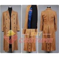 Original Doctor Who Dr. Brown hombres adultos largo Trencas traje Halloween partido Cosplay traje