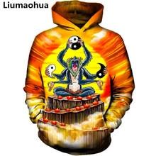 Liu Maohua New Fashion Mens Hoodie Sweatshirt Autumn Set Long Sleeve Jacket Hooded Anime Monkey S-5XL