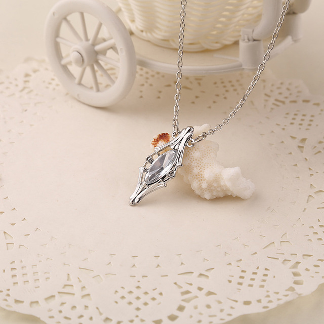 Lord of the Rings- Crystal  Elven Necklace