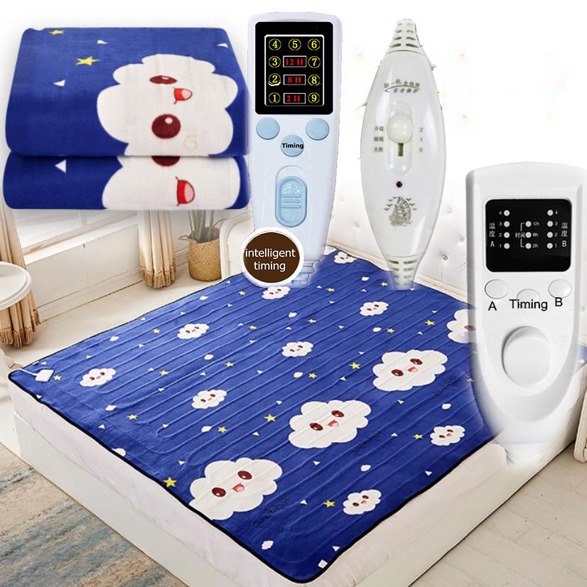 220V Soft Warm Heater Dual Temperature Timing Control Electric Blanket Soft Electric Mattress 220V Electric Heating Carpet