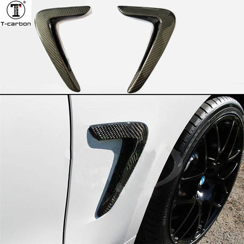 Для BMW F32 F36 углерода fender свет отделкой 4 серии F32 F33 F36 замена углеродного волокна крыло отделка автомобильные аксессуары 2014 2016