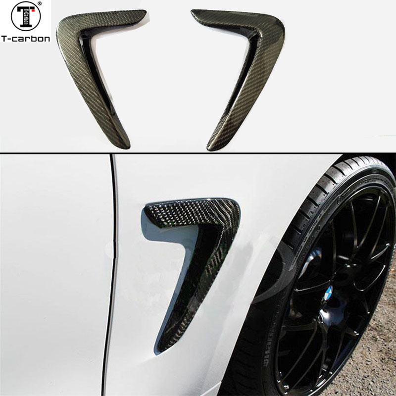 Pour BMW F32 F36 carbone garde-boue lumière garniture 4 série F32 F33 F36 remplacement en Fiber de carbone garde-boue accessoires de voiture 2014-2016