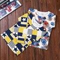 2017 Nova Primavera Outono Mangas Compridas Camiseta Meninos Crianças T-shirt Do Bebê Menino Da Criança Tops da moda Roupa dos miúdos