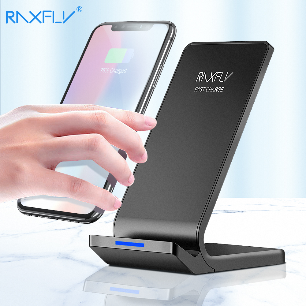 best service 23f6a 77189 US $12.79 48% OFF|RAXFLY 10W Wireless Charger For iPhone XS Max XR X 8 Plus  Fast Charging For Samsung S9 S8 Plus Note 9 8 Phone Wireless Charger-in ...